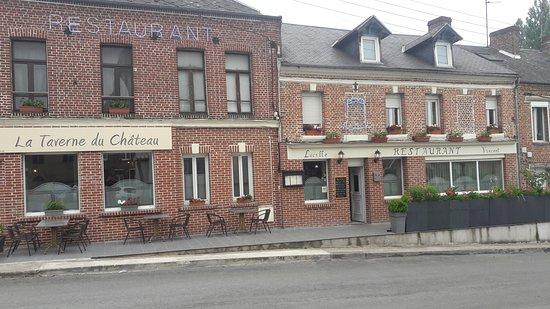 Guise, ฝรั่งเศส: façade du restaurant