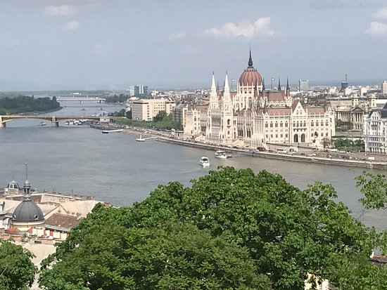 Danube River: View of Parliament from Buda side of Budapest