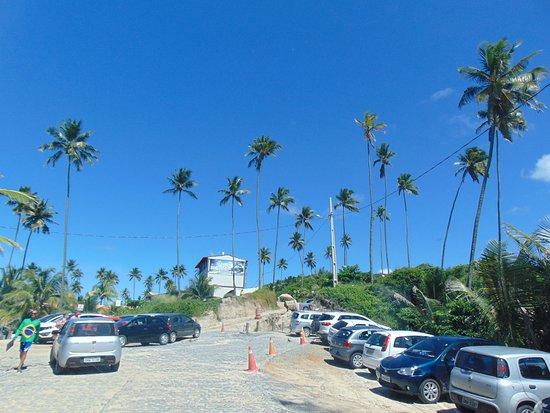 Praia do Coqueirinho: Ponto de chegada na praia