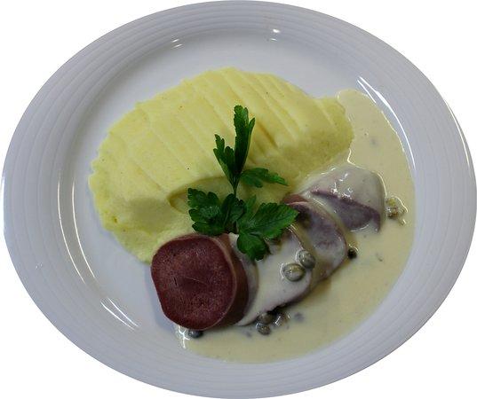 Ipsach, Schweiz: Rindszunge mit hausgemachtem Kartoffelstock