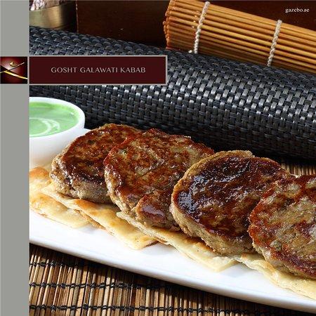 Gazebo Restaurant: GOSHT GALAWATI KABAB - Fine lamb mince mixed with spices, chopped green chillies & coriander, sh