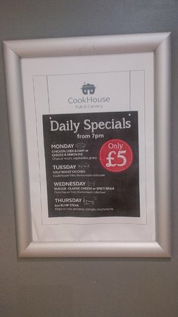 CookHouse Pub & Carvery: Specials