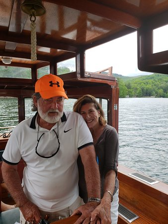 On the Miss Lucy, a complementary sunset ferry ride on beautiful Lake Toxaway