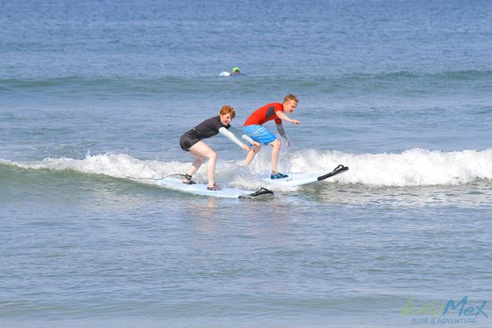 """WildMex Surf and Adventure: My husband and I """"riding"""" side by side! haha"""