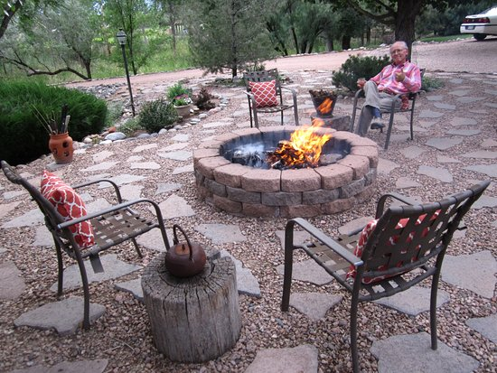 Florence, CO: We look forward to entertaining guests around the fire pit.