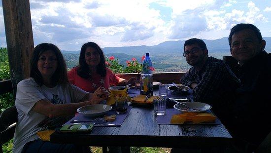Poggio Bustone, Italy: Pranzo all'aperto