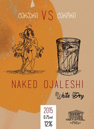 Martvili, جورجيا: Wine Labels - Ojaleshi. White dry 2015