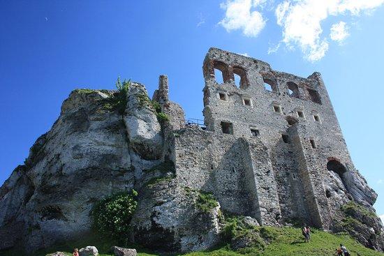 Ogrodzieniec, Polônia: Zamek w Ogrodzieńcu przed wejściem.