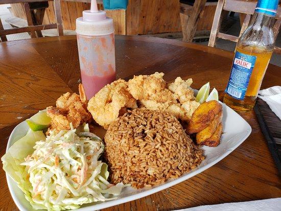 Seafood Platter 新普罗维登斯岛goldie S Conch House Nassau Bahamas的图片 Tripadvisor