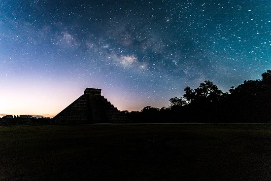 Bushman Photography: Our first view arriving at Chichen Itza in the Chichen Sunrise Private Tour.