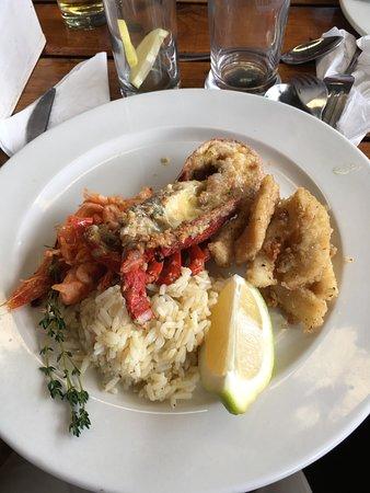 Glencairn, África do Sul: homard tres mal cuit , dommage