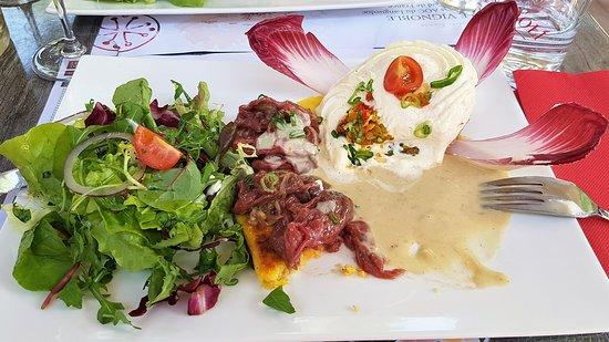 Bella Napoli: Salade, polenta, carpaccio
