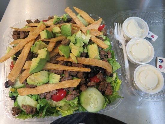 Waldwick, NJ: burrito salad