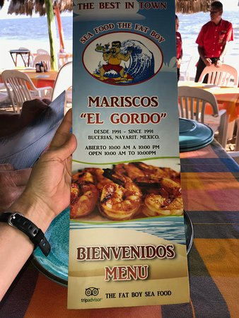 Mariscos el Gordo: Menu cover