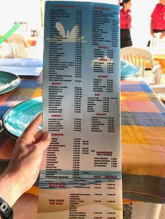 Mariscos el Gordo: Drink menu