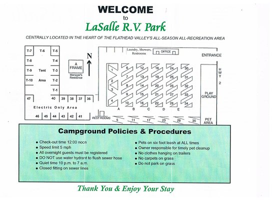 Columbia Falls, Montana: A view of the Park, some rules on map have changed