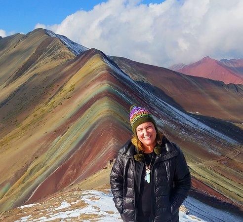 Viaggio di 2 giorni alla Montagna Arcobaleno da Cusco: Finally made it! Not another soul in sight!