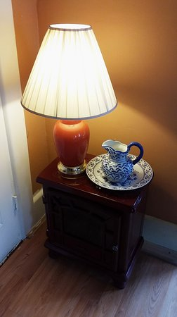 Hillsborough, NH: Antique Lamp, Furniture, and Basin