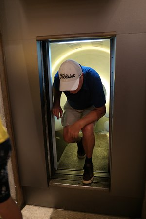 The Gateway Arch: going out of the lift.