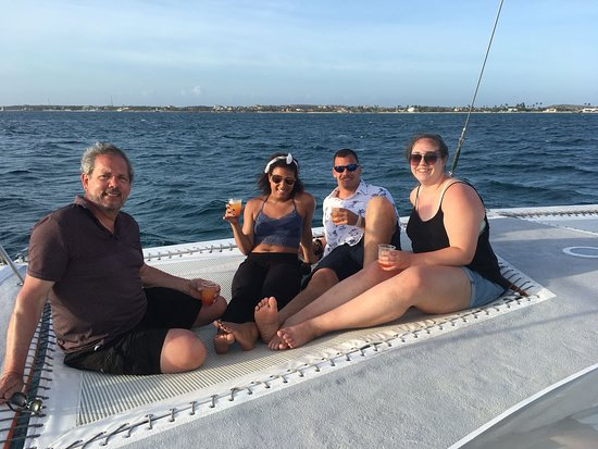 Octopus Sailing Charters: Octopus Aruba Sunset Sailing Enjoy a warm welcome aboard from your friendly captain and crew, th