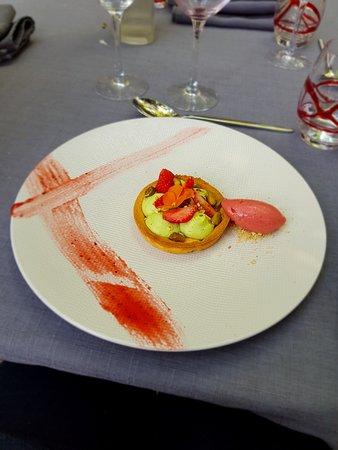 Au Pois Gourmand: Escalope de foie de veau grillé aux aillets
