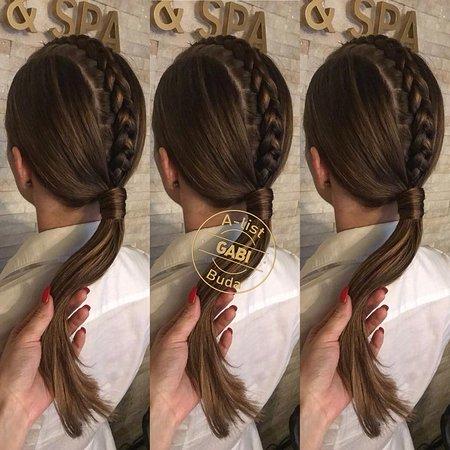A-list Salon & Spa: Braided hairstyle by Gabi