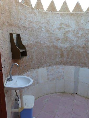 Safari Desert Camp: Basic bathroom, open sky shower