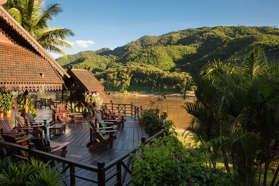 Pakbeng, Laos: Terrace