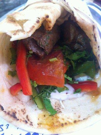 Sumsum: Delicious kebab wrap !!!!