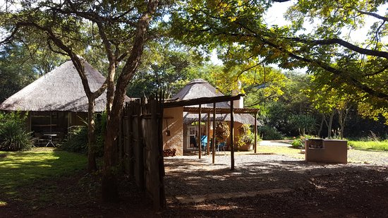 Louis Trichardt, South Africa: Madala's Cottage looking west. Main bedroom on left and living area on the right.