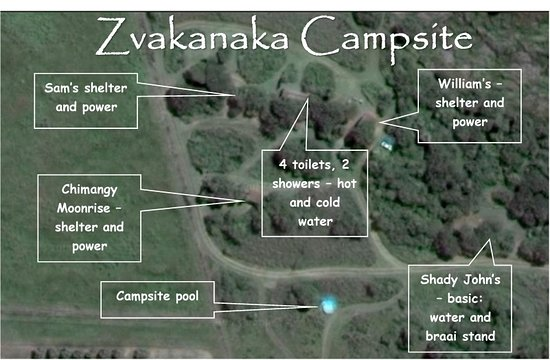 Louis Trichardt, South Africa: Layout of sites in the campsite