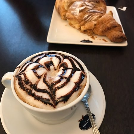 Great coffee, croissants and fresh ice cream