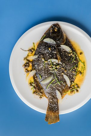 Rocker: Whole flounder, sea succulents, lemon & caper butter