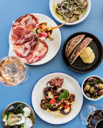 Rocker: Snacks in the bar; house cured coppa, baby occy, oysters, olives, bread & dripping