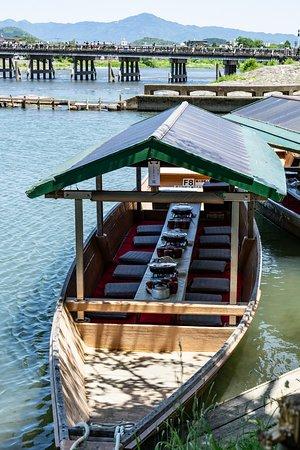 Monkey Park Iwatayama: Boat cruise area near the start/end of the climb