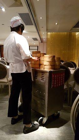 Metropol Restaurant: Food offerings come by way of trolleys.