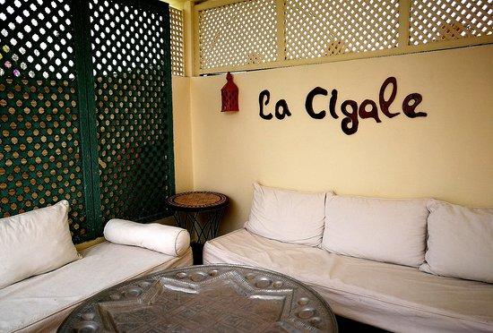 Riad La Terrasse des Oliviers: Un angolo del terrazzo, luogo ideale per una colazione con vista sulla medina
