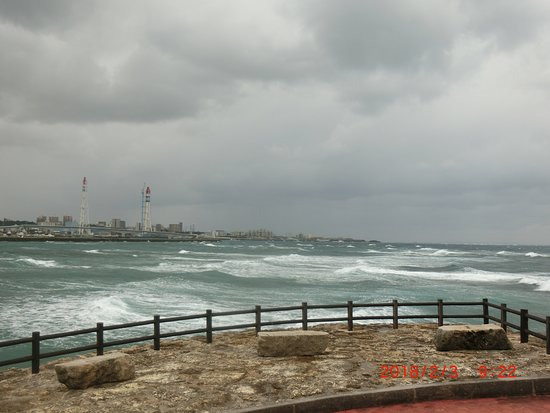Tropical Beach: 訪問時は強風で荒波が