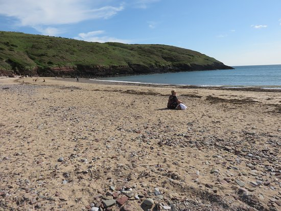 Manorbier, UK: the beach
