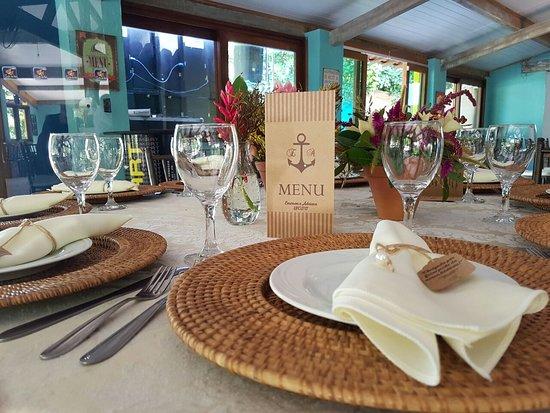 Hotel Canto do Rio Maresias: Área de café da manhã decorado para festa de casamento