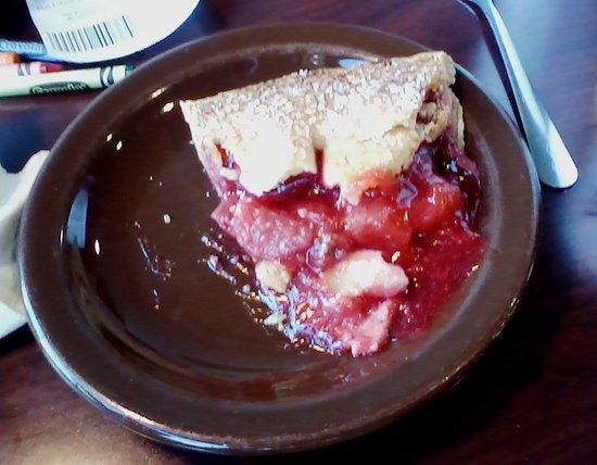 Village Inn: A slice of strawberry-rhubarb pie--free on Wednesdays!