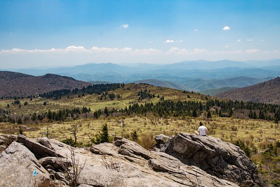 Mouth of Wilson, VA: The view of Grayson Highlands from Wilburn Ridge