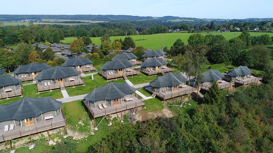 Glamping - Adventure Valley Durbuy: Aerial view of glamping