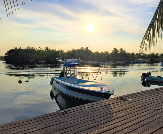 Captain Jak's Cabanas: Dock at Sunset