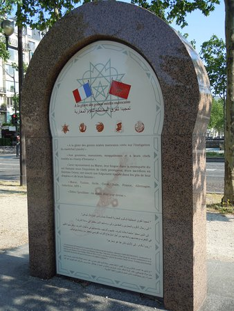 Stele en hommage aux Goumiers marocains