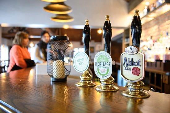 The Railway Inn: Plenty of Ales on offer