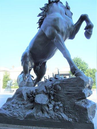 Statue Cheval a la Herse