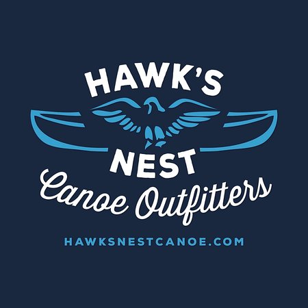 Manitowish Waters, WI: Hawk's Nest Canoe Outfitters' new logo