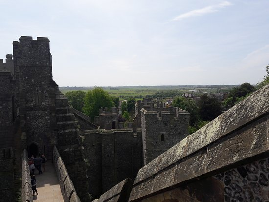 Arundel Castle and Gardens: Keep view