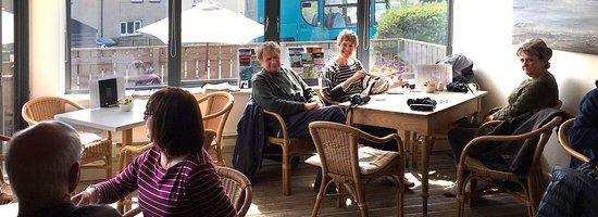 Craster, UK: Internal view of the Shoreline Cafe, Craster